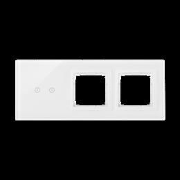 Panel dotykowy 3 moduły 2 pola dotykowe poziome, otwór na osprzęt Simon 54, otwór na osprzęt Simon 54, biała perła-251934