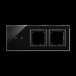 Panel dotykowy 3 moduły 2 pola dotykowe poziome, otwór na osprzęt Simon 54, otwór na osprzęt Simon 54, zastygła lawa-251937