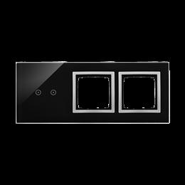 Panel dotykowy 3 moduły 2 pola dotykowe poziome, otwór na osprzęt Simon 54, otwór na osprzęt Simon 54, księżycowa lawa-251938