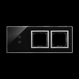 Panel dotykowy 3 moduły 2 pola dotykowe pionowe, otwór na osprzęt Simon 54, otwór na osprzęt Simon 54, księżycowa lawa-251943