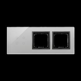 Panel dotykowy 3 moduły 4 pola dotykowe, otwór na osprzęt Simon 54, otwór na osprzęt Simon 54, burzowa chmura-251946