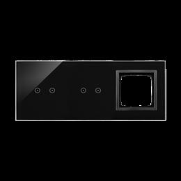 Panel dotykowy 3 moduły 2 pola dotykowe poziome, 2 pola dotykowe poziome, otwór na osprzęt Simon 54, zastygła lawa-251917