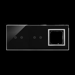 Panel dotykowy 3 moduły 2 pola dotykowe poziome, 2 pola dotykowe poziome, otwór na osprzęt Simon 54, księżycowa lawa-251918