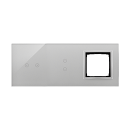 Panel dotykowy 3 moduły 2 pola dotykowe poziome, 2 pola dotykowe pionowe, otwór na osprzęt Simon 54, srebrna mgła-251895