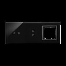 Panel dotykowy 3 moduły 2 pola dotykowe poziome, 2 pola dotykowe pionowe, otwór na osprzęt Simon 54, zastygła lawa-251920