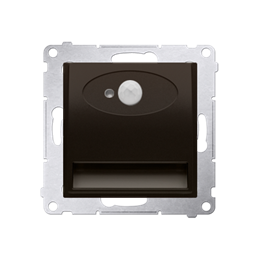 Oprawa oświetleniowa LED z czujnikiem ruchu, 14V brąz mat, metalizowany-252867