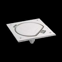 Wkład puszki podłogowej KSE IP66 z gniazdem z uziemieniem i RJ45 kat6 UTP stal nierdzewna IK:IK07-256028