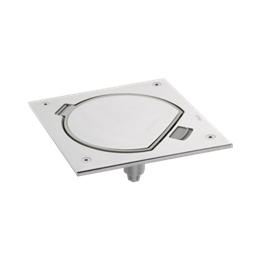 Wkład puszki podłogowej KSE IP66 na klucz imbusowy z gniazdem z uziemieniem i RJ45 6 kat UTP stal nierdzewna IK:IK07-256029