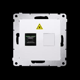 Gniazdo światłowodowe / optyczne pojedyncze biały-253013