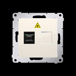 Gniazdo światłowodowe / optyczne pojedyncze kremowy-253014