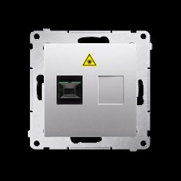 Gniazdo światłowodowe / optyczne pojedyncze srebrny mat, metalizowany-253015