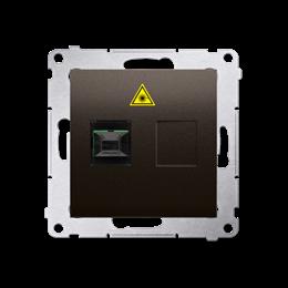 Gniazdo światłowodowe / optyczne pojedyncze brąz mat, metalizowany-253016