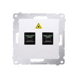 Gniazdo światłowodowe / optyczne podwójne biały-253018