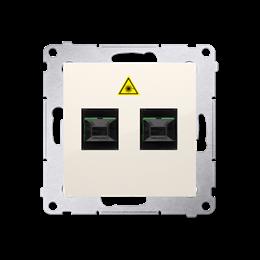 Gniazdo światłowodowe / optyczne podwójne kremowy-253019