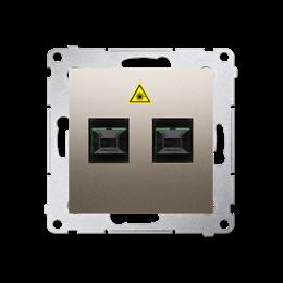 Gniazdo światłowodowe / optyczne podwójne złoty mat, metalizowany-253021