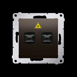 Gniazdo światłowodowe / optyczne podwójne brąz mat, metalizowany-253038