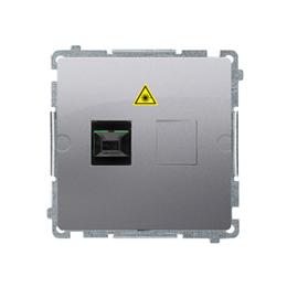 Gniazdo światłowodowe / optyczne podwójne inox, metalizowany-254059