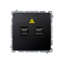 Gniazdo światłowodowe / optyczne podwójne grafit mat, metalizowany-254067