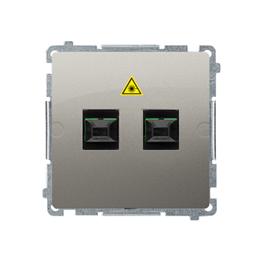 Gniazdo światłowodowe / optyczne podwójne satynowy, metalizowany-254068