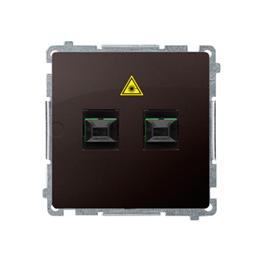 Gniazdo światłowodowe / optyczne podwójne czekoladowy mat, metalizowany-254070