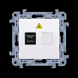 Gniazdo światłowodowe / optyczne pojedyncze biały-254504