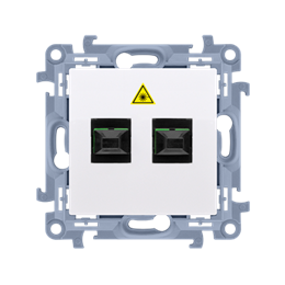 Gniazdo światłowodowe / optyczne podwójne biały-254506