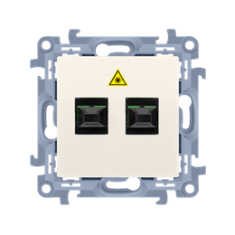Gniazdo światłowodowe / optyczne podwójne kremowy-254507