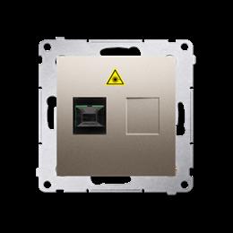 Gniazdo światłowodowe / optyczne pojedyncze złoty mat, metalizowany-253022