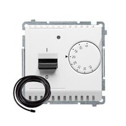 Regulator temperatury z wyświetlaczem z czujnikiem zewnętrzym (sonda) biały-254286