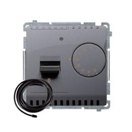 Regulator temperatury z wyświetlaczem z czujnikiem zewnętrzym (sonda) srebrny mat, metalizowany-254308