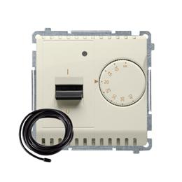 Regulator temperatury z wyświetlaczem z czujnikiem zewnętrzym (sonda) beżowy-254287