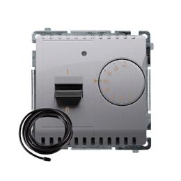 Regulator temperatury z wyświetlaczem z czujnikiem zewnętrzym (sonda) inox, metalizowany-254288