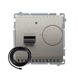 Regulator temperatury z wyświetlaczem z czujnikiem zewnętrzym (sonda) satynowy, metalizowany-254309