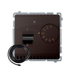 Regulator temperatury z wyświetlaczem z czujnikiem zewnętrzym (sonda) czekoladowy mat, metalizowany-254310