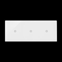 Panel dotykowy 3 moduły 1 pole dotykowe, 1 pole dotykowe, 1 pole dotykowe, biała perła-251749