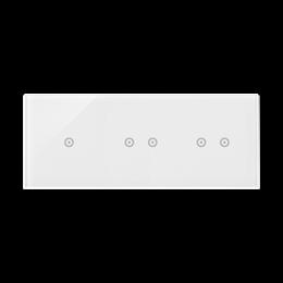 Panel dotykowy 3 moduły 1 pole dotykowe, 2 pola dotykowe poziome, 2 pola dotykowe poziome, biała perła-251748