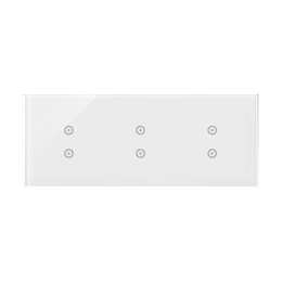 Panel dotykowy 3 moduły 2 pola dotykowe pionowe, 2 pola dotykowe pionowe, 2 pola dotykowe pionowe, biała perła-251756