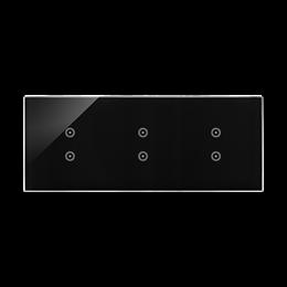 Panel dotykowy 3 moduły 2 pola dotykowe pionowe, 2 pola dotykowe pionowe, 2 pola dotykowe pionowe, zastygła lawa-251832