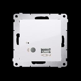 Odbiornik Bluetooth z ładowarką USB biały-252790