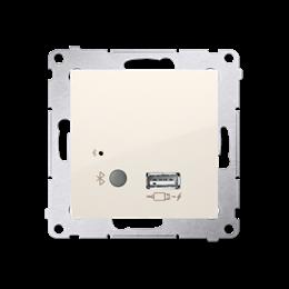 Odbiornik Bluetooth z ładowarką USB kremowy-252788