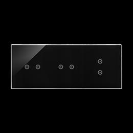 Panel dotykowy 3 moduły 2 pola dotykowe poziome, 2 pola dotykowe poziome, 2 pola dotykowe pionowe, zastygła lawa-251843