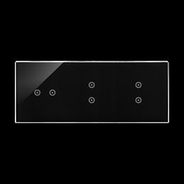 Panel dotykowy 3 moduły 2 pola dotykowe poziome, 2 pola dotykowe pionowe, 2 pola dotykowe pionowe, zastygła lawa-251845