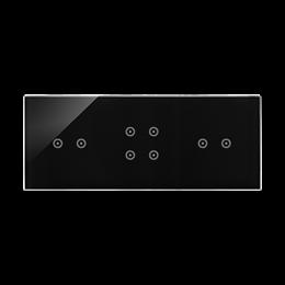 Panel dotykowy 3 moduły 2 pola dotykowe poziome, 4 pola dotykowe, 2 pola dotykowe poziome, zastygła lawa-251846