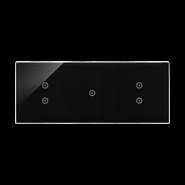 Panel dotykowy 3 moduły 2 pola dotykowe pionowe, 1 pole dotykowe, 2 pola dotykowe pionowe, zastygła lawa-251848