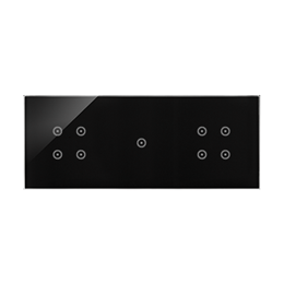 Panel dotykowy 3 moduły 4 pola dotykowe, 1 pole dotykowe, 4 pola dotykowe, zastygła lawa-251852