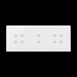 Panel dotykowy 3 moduły 4 pola dotykowe, 2 pola dotykowe pionowe, 4 pola dotykowe, biała perła-251788
