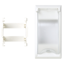 Płytka z pokrywą SIMON 500 do aparatury 2-polowej 100×50mm czysta biel-256564