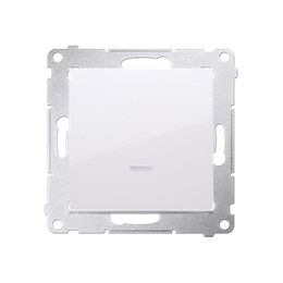 Łącznik schodowy z podświetleniem LED bez piktogramu (moduł) 16AX 250V, zaciski śrubowe, biały-252110