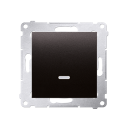 Łącznik krzyżowy z podświetleniem LED bez piktogramu (moduł) 10AX 250V, szybkozłącza, antracyt, metalizowany-252165
