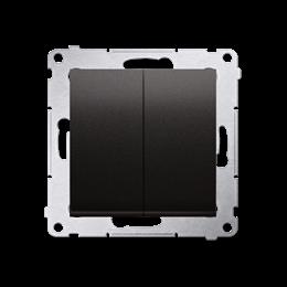 Łącznik schodowy podwójny bez piktogramu (moduł) 10AX 250V, zaciski śrubowe, antracyt, metalizowany-252303